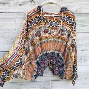 Free People Hold On Tight Gauze Pullover top